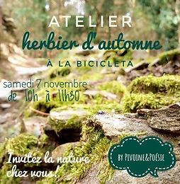 Atelier Herbier d'automne