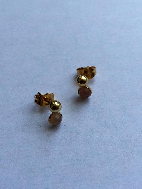 Boucles d'oreilles à l'or fin