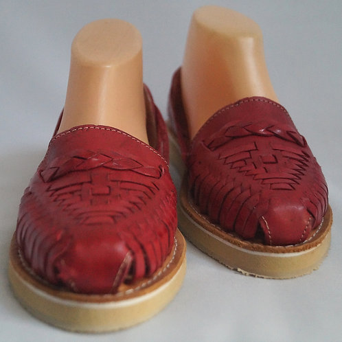 Chaussures cuir rouges