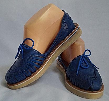 Chaussures cuir bleues