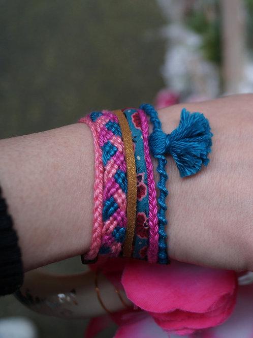Bracelet bleu rose