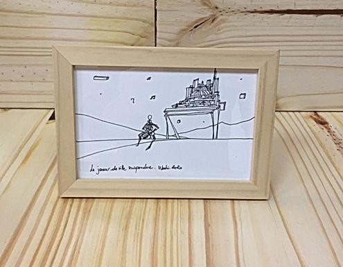 Tableau poétique en bois