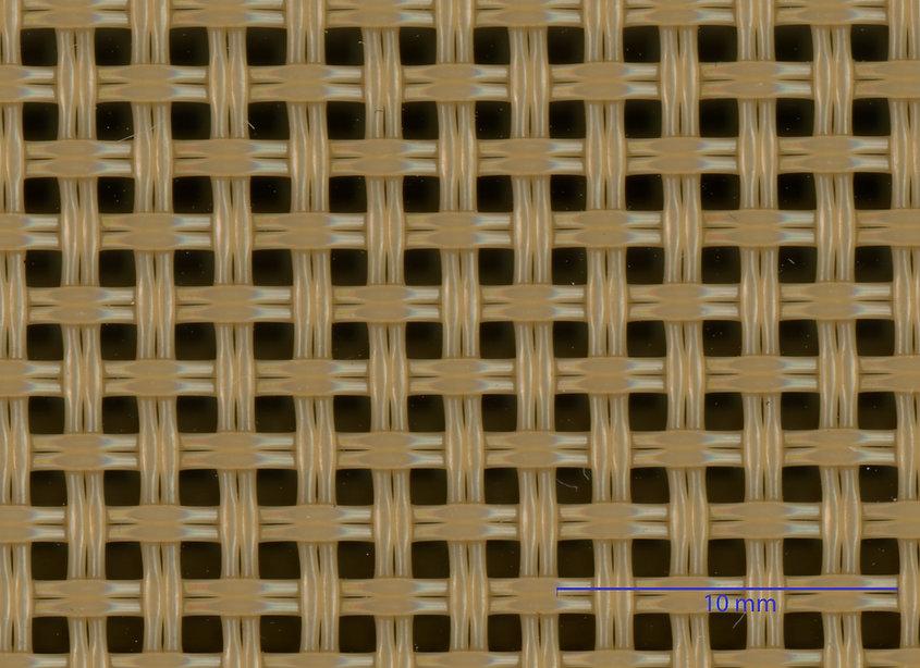 Rohbild Siebgewebe Typ Panama. Anwendung Roboskop von Fa. Robomat