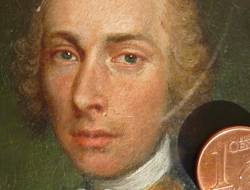 Miniature oil painting from the time of Mozart in 1780