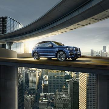 BMW - Campagne X3 Abribus Octobre 2018