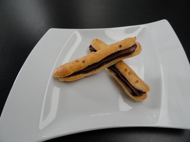 Eclairs et mousse chocolat tonka
