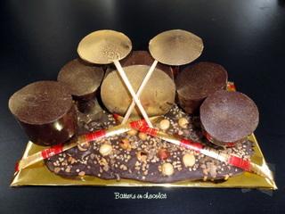 Batterie tout en chocolat