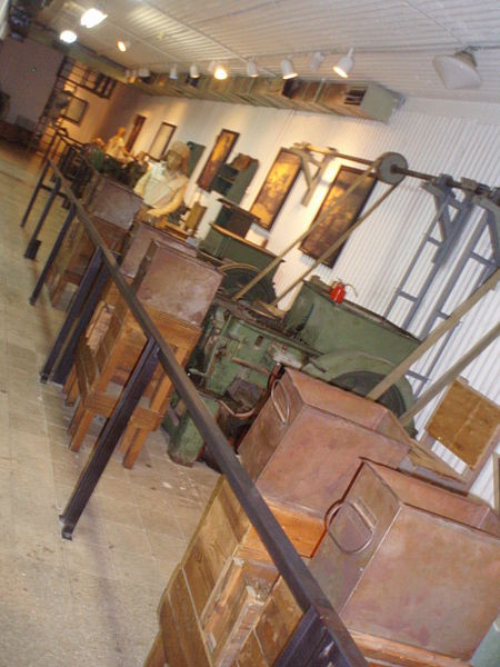 The inside of the Ayalon Institute Museum (Bullet Factory)