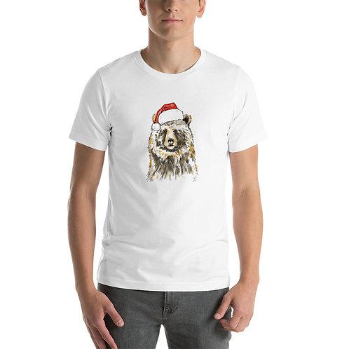 Christmas Bear Short-Sleeve Unisex T-Shirt