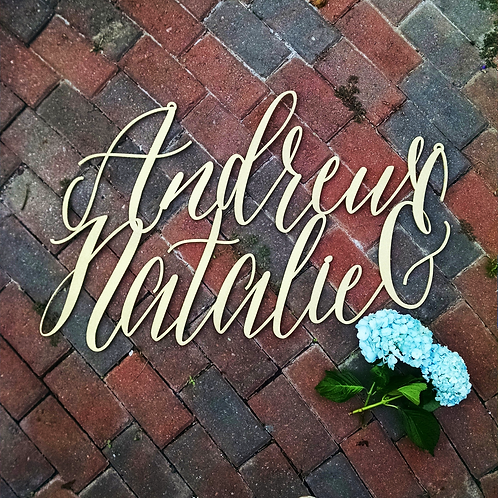 Calligraphy Name Sign