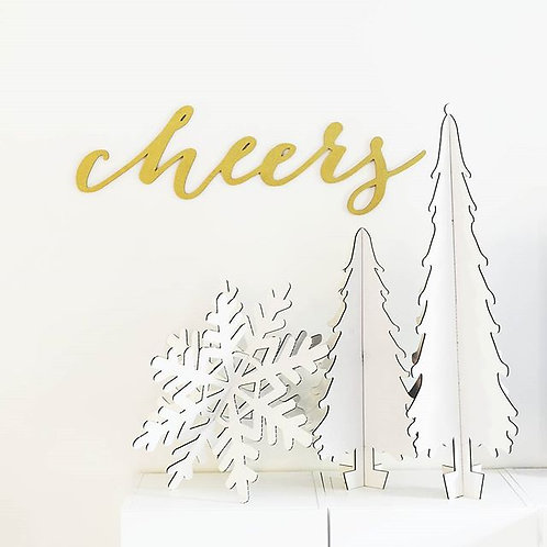 3' Cheers Sign