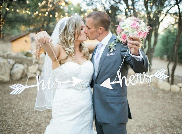 his and hers wedding arrows