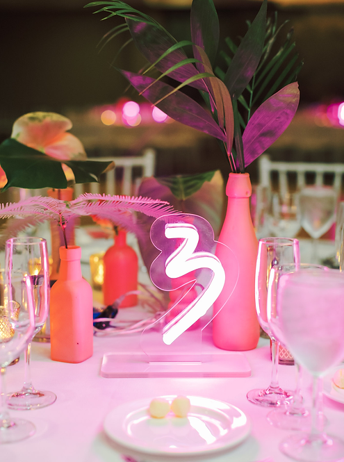Table Number Rental