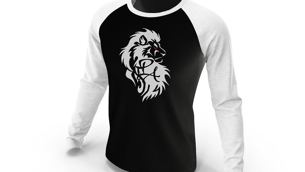 Lion LogoLong Sleeve Baseball Tee