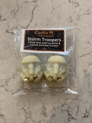 Caramel & Salted Caramel Filled Head of Storm Trooper