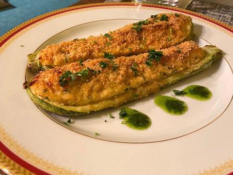 El gran Zucchini ripieni con ricotta
