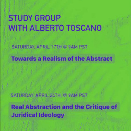 Alberto Toscano: Towards a Realism of the Abstract