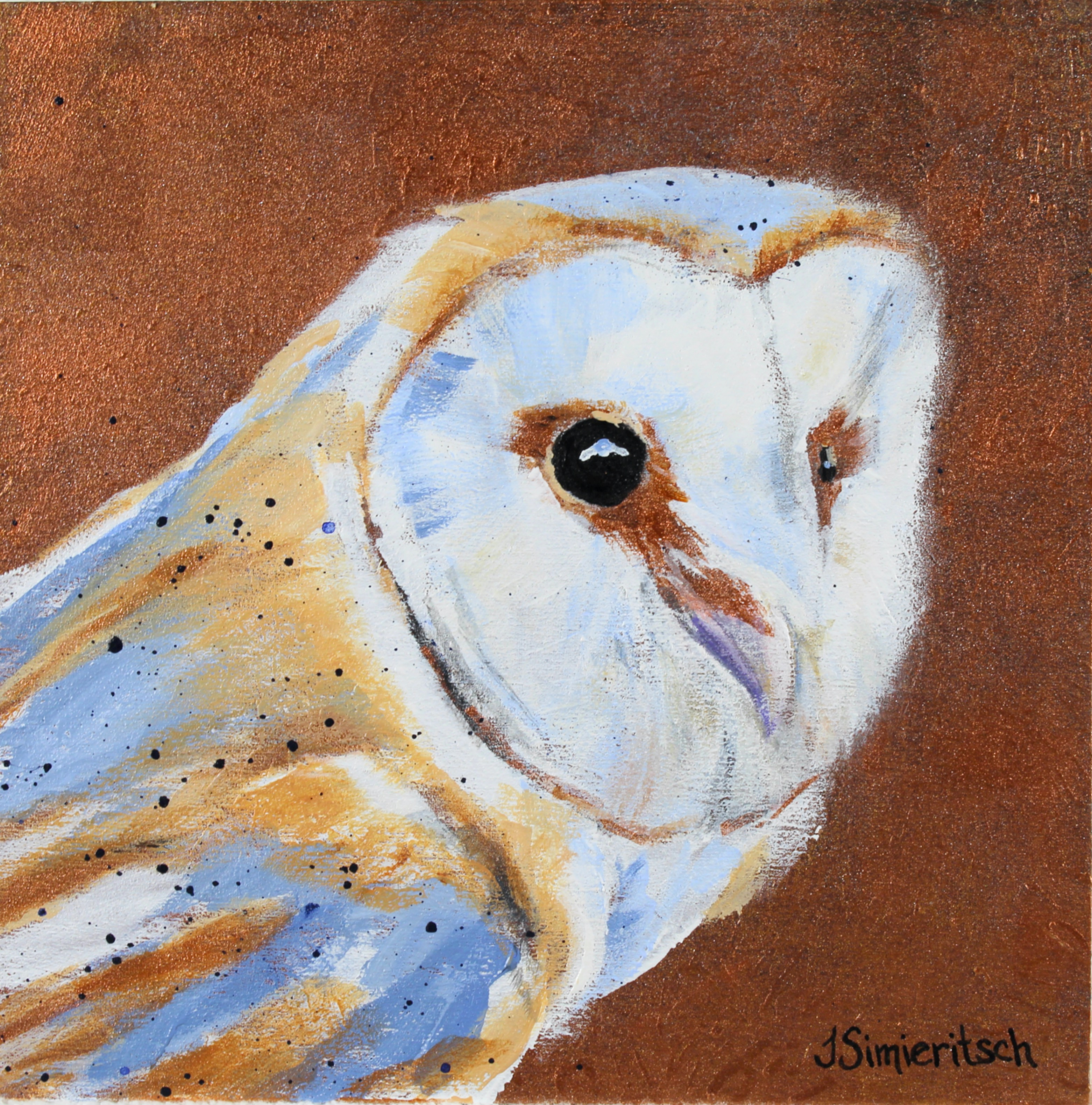 Copper Barn Owl