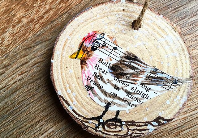 Redpoll Holiday Ornament