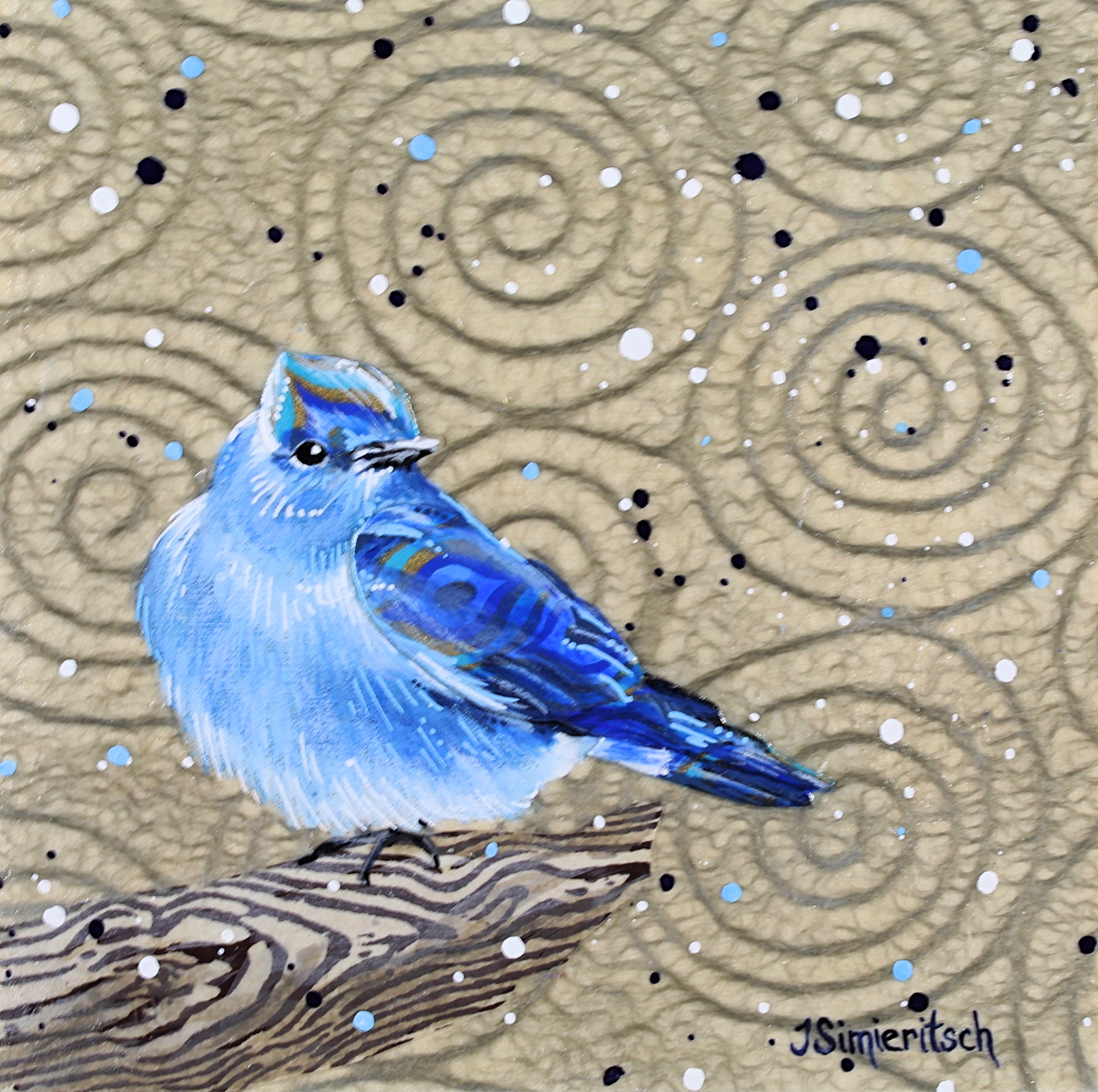 Swirly Bluebird