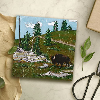 A smaller version of my bison as a print