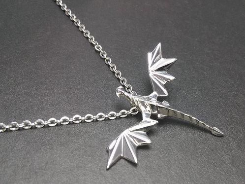 Origami Dragon Pendant