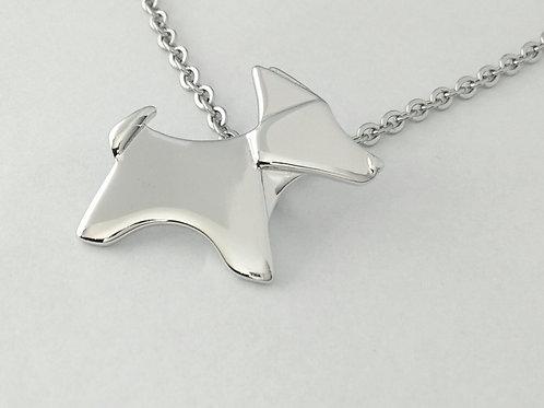 Origami Dog Pendant