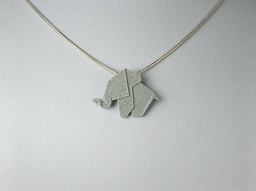 Origami Elephant Pendant