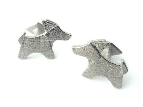 Origami Dog Cufflink