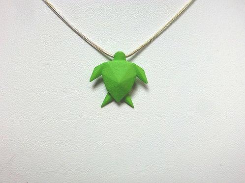 Origami Turtle Pendant