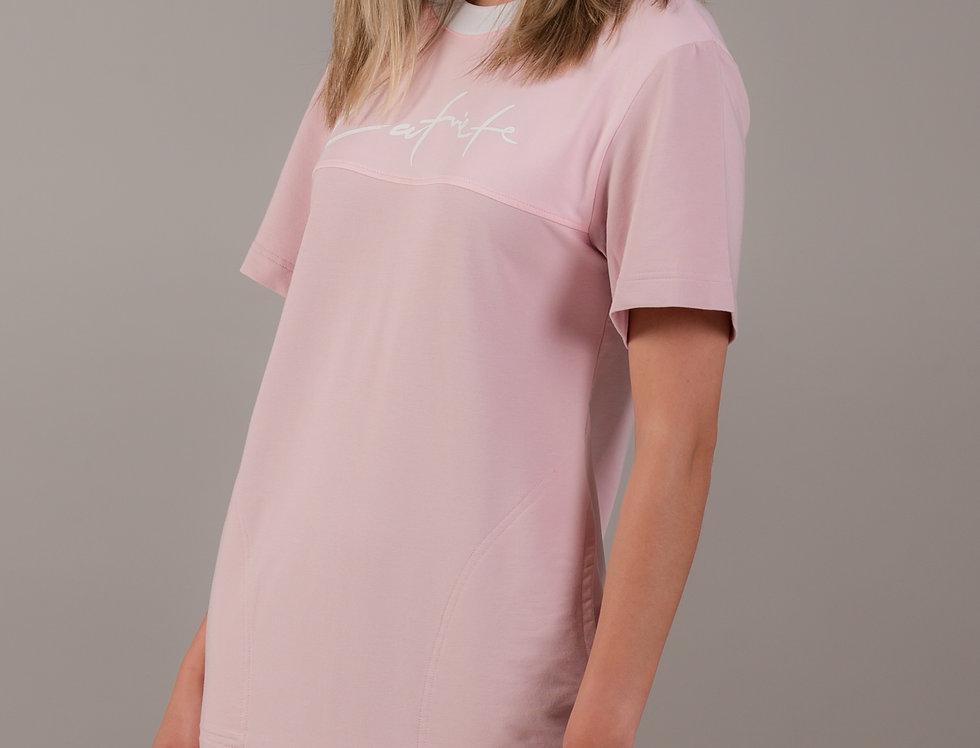 T - krekla kleita /rozā