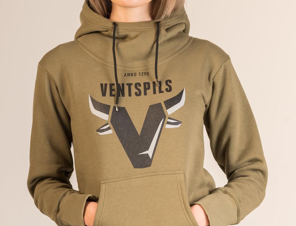Džemperis ar kapuci / militārā krāsa
