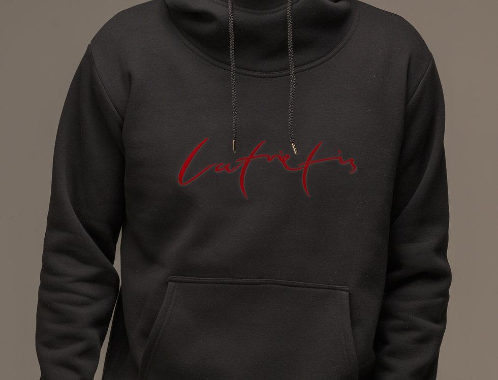 Latvietis - džemperis ar kapuci / krāsa - MELNS