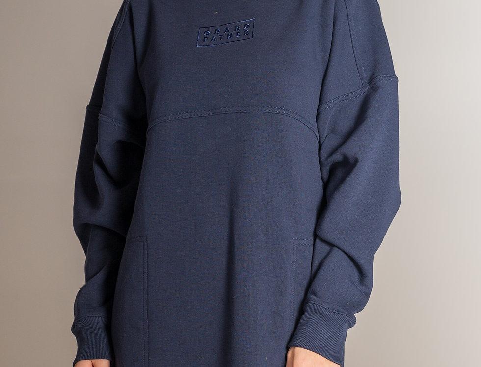 Džemperkleita ar kapuci / GF / tumši zila