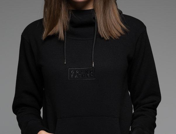 Black Classic UNISEX hoodie with high neck GF/W