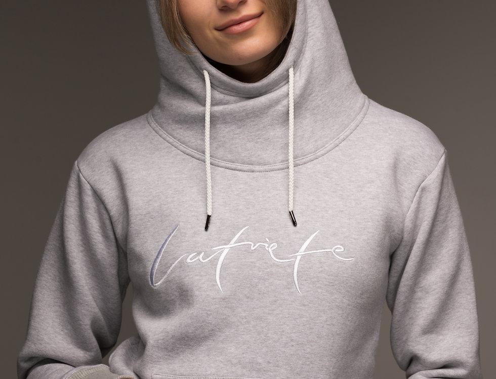 Latviete - džemperis ar kapuci / krāsa -PELĒKS