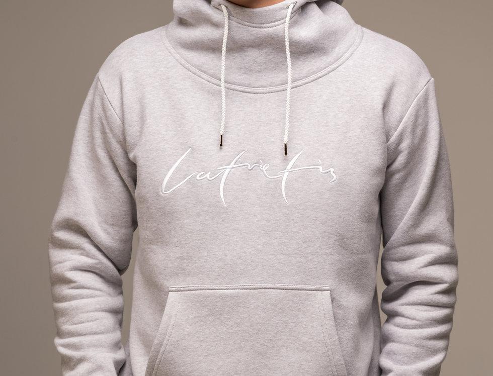 Latvietis - džemperis ar kapuci / krāsa -PELĒKS