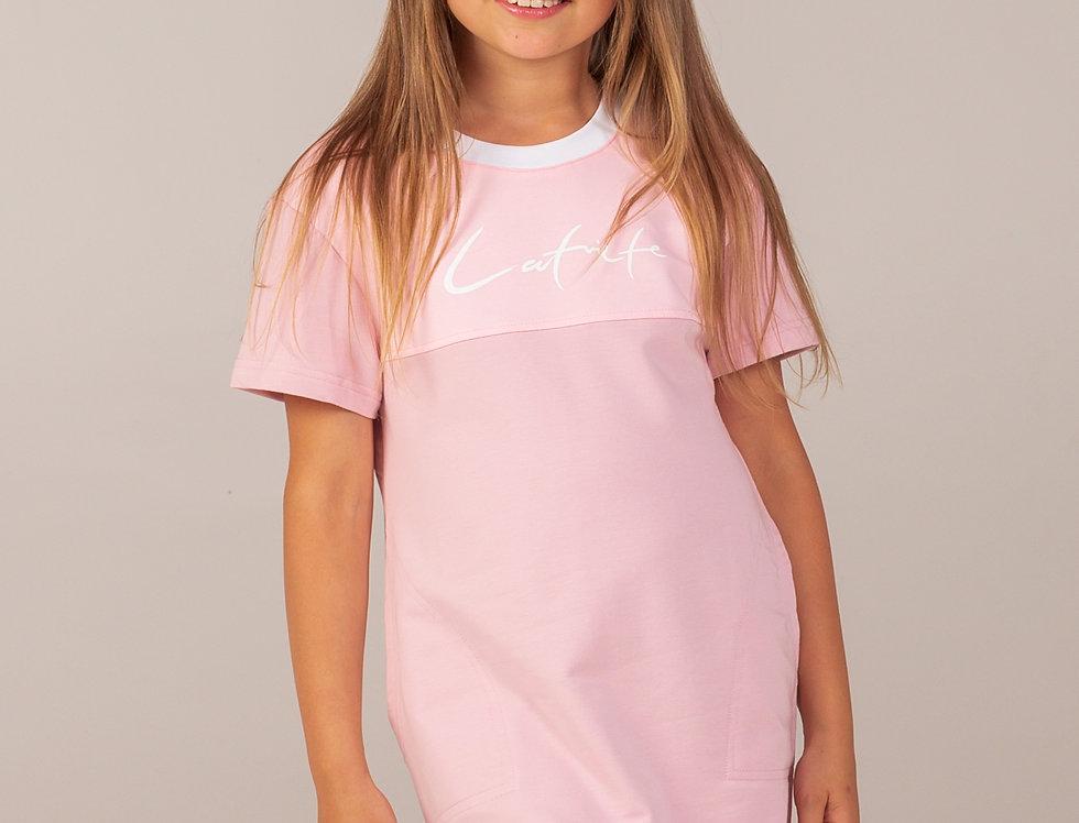 T - krekla kleita / rozā / bērnu