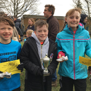 Oxfordshire Primary Schools Cross Country Championships- Millie, Olly and the Y6 Boys are the champi