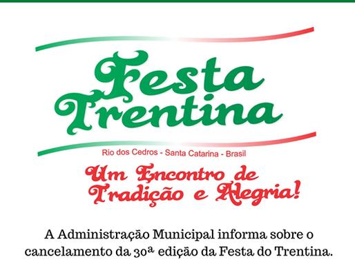Festa Trentina de Rio dos Cedros é cancelada