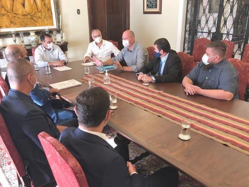 Prefeito Ércio Kriek  apresenta demandas do município ao Governador