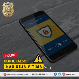 Polícia Civil alerta para golpes de perfis falsos na internet