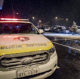 Neve e frio intenso nesta sexta-feira em SC