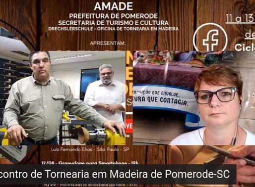 Pomerode realizou o Encontro de Tornearia em Madeira via Online