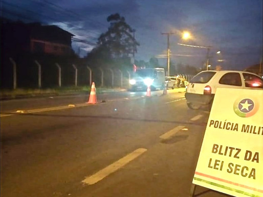 Polícia Militar de Pomerode e região realiza Blitz da Lei Seca