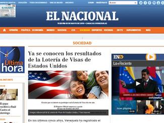 El Nacional - Ya se conocen los resultados de la Lotería de Visas de Estados Unidos