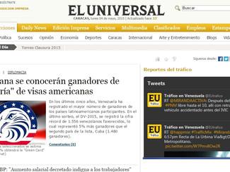 """El Universal - Mañana se conocerán ganadores de """"lotería"""" de visas americanas"""
