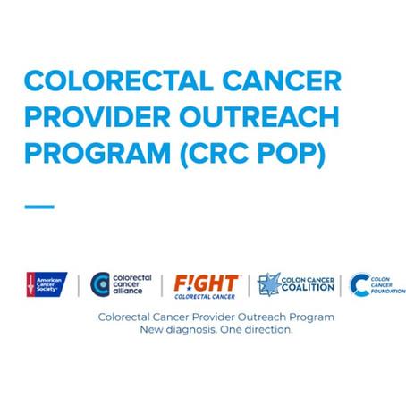 Colorectal Cancer Provider Outreach Program (CRC POP) 💙