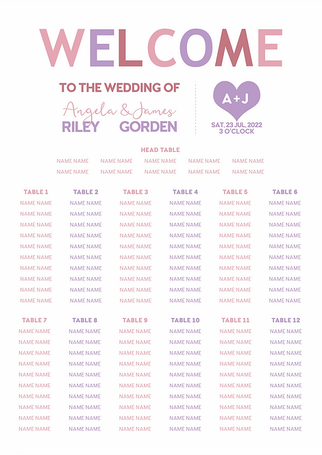 TABLE PLAN - Prism (From £80)