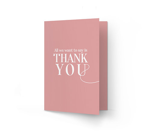 THANK YOU CARD - All You Need is Love (From £1)